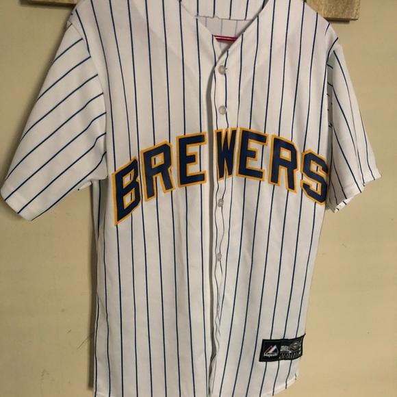 size 40 9bf45 90f54 Original MLB Brewers Retro Jersey